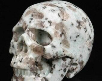 Natural Lotus Jasper Crystal Skull, Mini