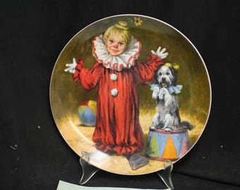 John Mc Clleland  Reco Tommy the Clown Collector Plate 1982