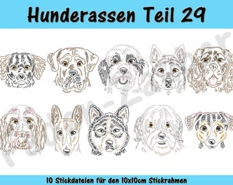 Dog breeds part 29 - embroidery-set for the border 10x10cm