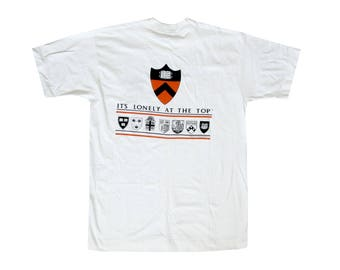 Vintage Princeton University It's Lonely at The Top White T-Shirt Large 90s Sportswear College NCAA New Jersey