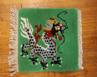 Tibetan Square Dragon Meditation Rug