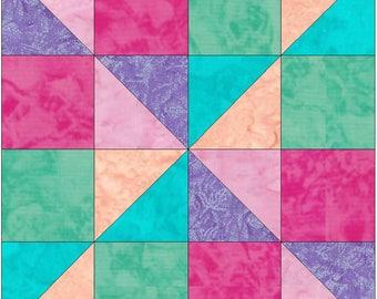 Scrappy Fun 15 Inch Block Paper Template Quilting Block Pattern PDF