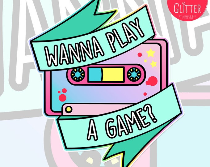 Wanna Play A Game, Saw Style Holographic Sticker