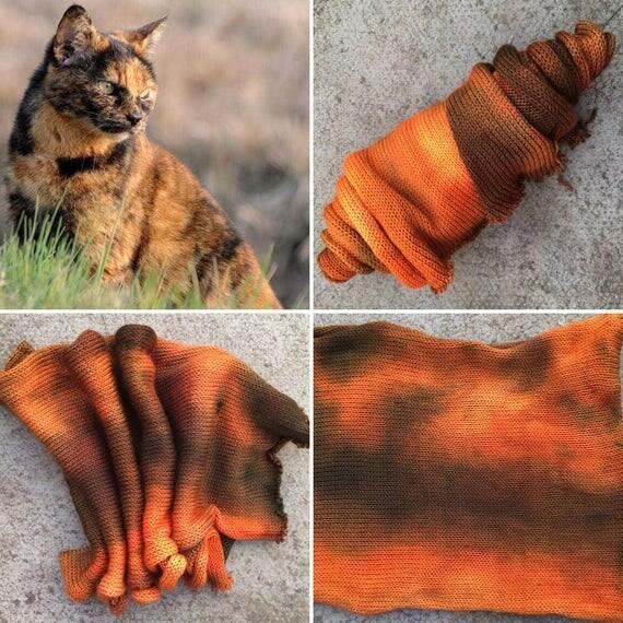 Tortoiseshell Sock Blank, cat inspired merino nylon indie yarn