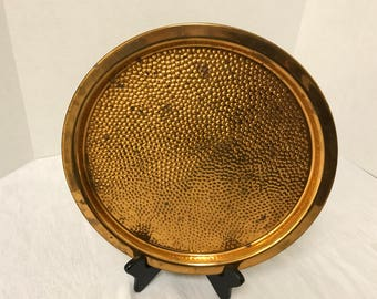 "Coppercraft Guild Round Copper Tray - 12"" Diameter"