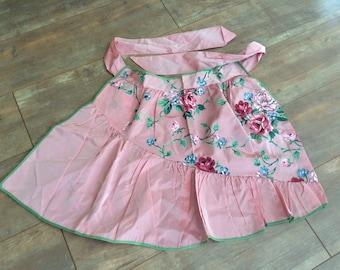Vintage Pink  Floral Apron