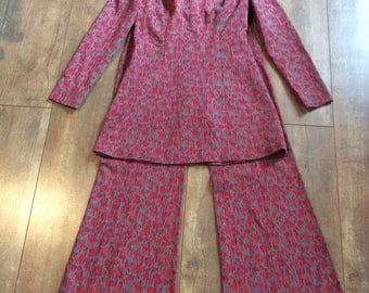 Vintage Hippy Outfit  Bell Bottom Pants and Top/ Vintage Two Piece Pant suit