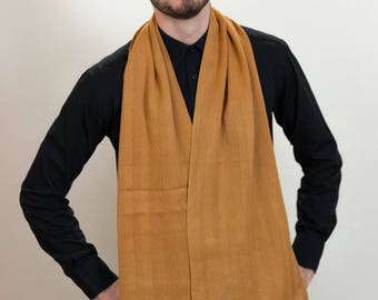 Terracotta Scarf, Men's Scarf, Chevron Scarf, Men's Accessories, Men's Fashion, Winter Scarf, Father's Day Gift, Autumn Scarf, 44