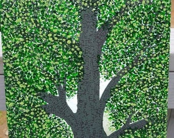 11x14 Lush summer tree on canvas