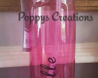 Drinks bottle-love island bottle-water bottle-back to school-school water bottles-personalized for girl-personalized for boy-school supplies