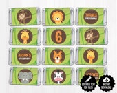 Safari Mini Candy Bar Wrappers. Mini Chocolate Bar Wraps. Editable Party Favor Labels. Nugget Wrapps. Kids Birthday or Baby Shower Favors