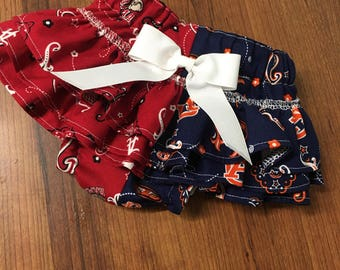 Baby Girl Ruffle Diaper Covers Alabama Diaper Cover Auburn Diaper Cover Florida Diaper Cover Newborn Photos Gameday Outfits