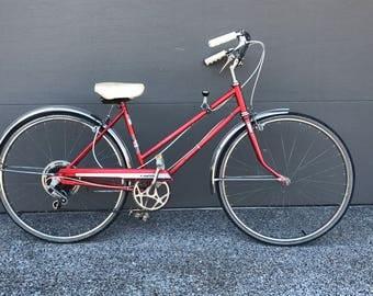 Vintage Hawthorne Red Cruiser Bicycle
