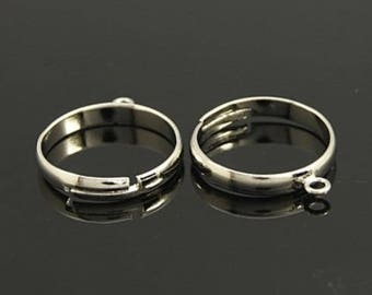 4 silver rings support 1 hole, size adjustable