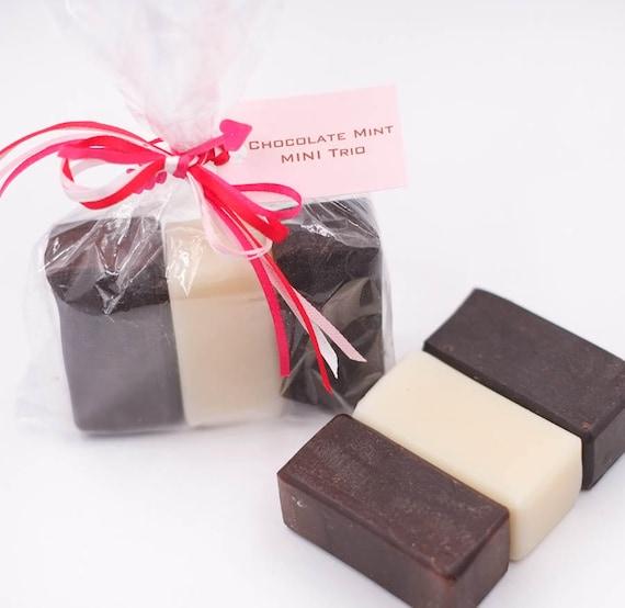 VALENTINE MINIES Chocolate Mint Trio   Mocha Mocha - Peppermint Latte - Chocolate Mint   2oz each   Bubbly, Nourishing, Fun!