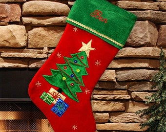 Personalized Christmas Stocking, Name Stockings