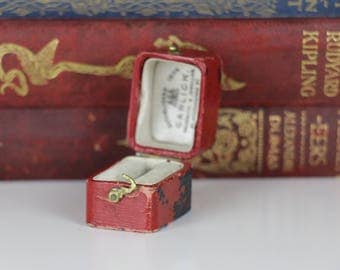 Antique Ring Box Rectangular Engagement or Wedding Ring Box