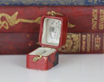 Antique Ring Box Rectangular Engagement or Wedding Ring Box