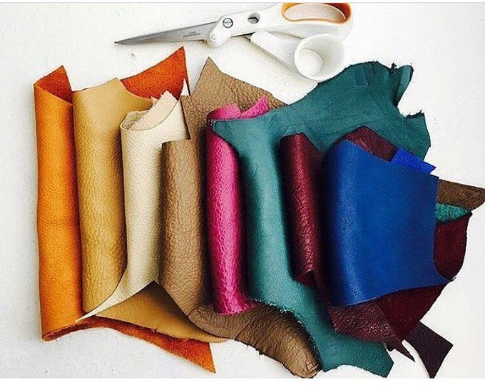 Featured listing image: 14 oz accorted  leather scraps