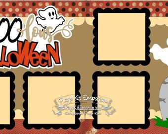 Scrapbook Page Kit Halloween FaBOOlous Halloween Ghost Boy Girl 2 page Scrapbook Layout Kit 09