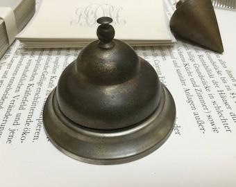Vintage metal school teacher bell