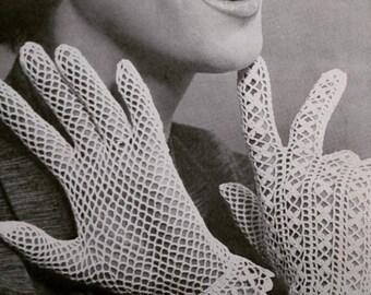 Vintage Lace Crochet Gloves,  Lace Bridal, Vintage Wedding Gloves white, ivory, black