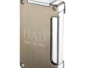 Personalized Cigar Lighter, Single Torch Cigar Lighter w/ Built-in Cigar Punch, Groomsmen Gifts, Father's day Gift, Birthday Gift VL400103