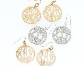 HeartStrings Acrylic Monogram Earrings