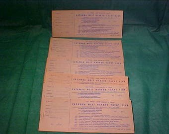 Ephemera Collectable Catawba West Harbor Yacht  Club Raffle Tickets 1975