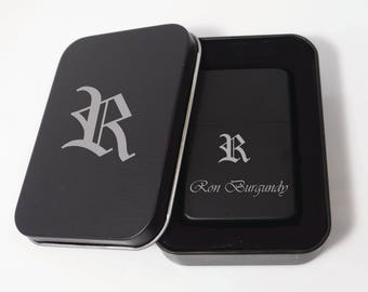 4 Personalized Engraved Lighters, Custom Gift Tin Box, Groomsman Gifts, Best Man Wedding Gifts, Custom Gifts, Groomsmen Gift