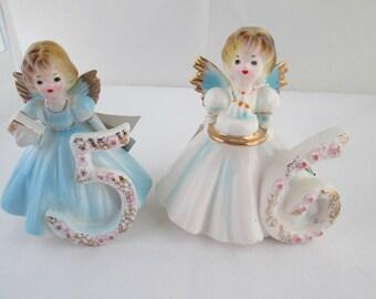 Josef Originals 5th or 6th Birthday Figurine Birthday cake topper Josef Figure Josef Birthday Girl Figurine Birthday Figure