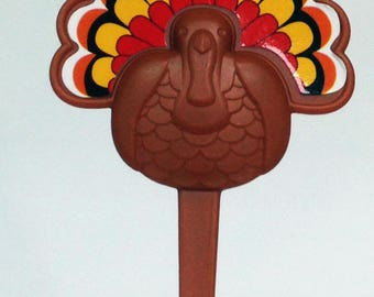 12 Turkey Cupcake Picks Thanksgiving Fall Toppers Party Favors