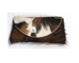 SUNNIES CASE Hair-On Large Pattern • Calf Hair Leather Sunglasses Pouch or Wallet