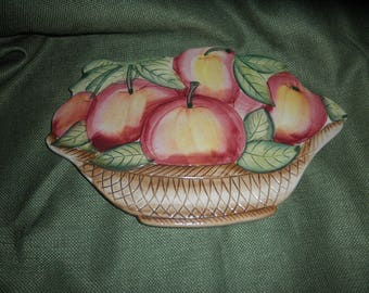Apple Ceramic Wall Plaque made in Italy