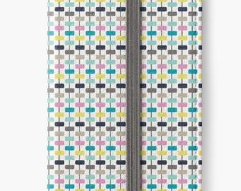 Folio Wallet Case for iPhone 8 Plus, iPhone 8, iPhone 7, iPhone 6 Plus, iPhone SE, iPhone 6, iPhone 5s - Colourful Modern geometric design