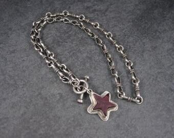 Southwestern Purple Spiny Oyster Star Necklace