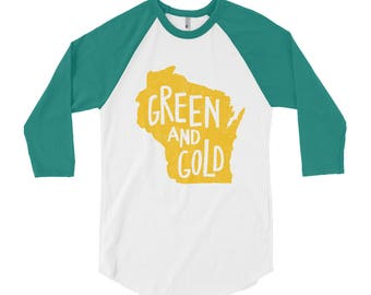 Green Bay Shirt // Green and Gold // Aaron Rodgers // Green Bay Fan // Gift For Her // Green Bay // Green Bay Gift // The Busy Bee