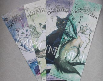 "4 bookmarks ""cats, charms and sorcery"" cat"