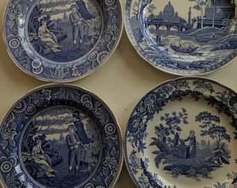 Spode 'Blue Room' Set of Dinner plates