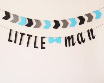 Little man garland, Little man baby shower, Little man birthday, Nursery gift, Newborn photo prop