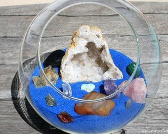 Mystical Crystal Terrarium | Crystal Terrarium | Gemstone Terrarium | Terrarium |