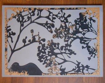 Elderflower Printed Lasercut