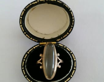 10k Victorian agate ring