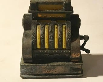 Vintage die-cast Pencil sharpener old time cash register