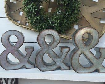 Ampersand Wall Decor metal ampersand | etsy