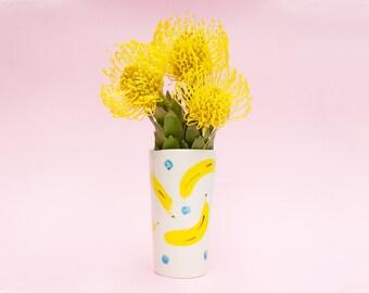 Hannah Banana flower vase in porcelain