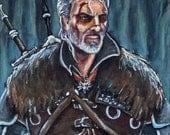 "Custom Order for Bonnie - 8.5"" x 11"" Geralt of Rivia Print"