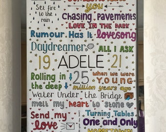 ADELE POSTER // greatest hits