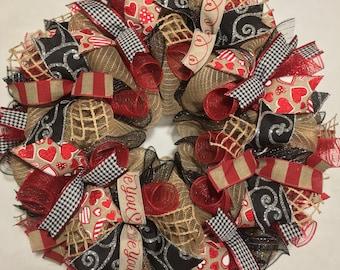 SALE Valentine Wreath, Valentine wreaths, Valentines Day Wreath, Valentine Wreaths, Valentine's Day wreaths, Heart wreath, wreath, Valentine