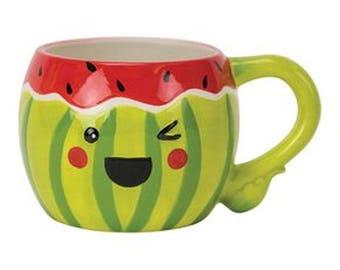 Watermelon Mug by Boston Warehouse holds 18oz. Free Shipping
